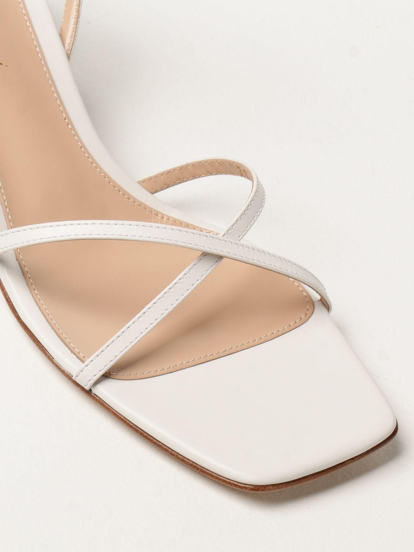 Sandalen mit Absatz Gianvito Rossi: Flache sandalen damen Sergio Rossi weiß 4