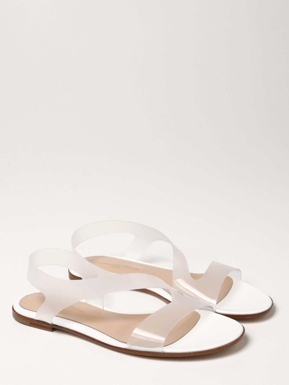 Flache Sandalen Gianvito Rossi: Flache sandalen damen Sergio Rossi weiß 2