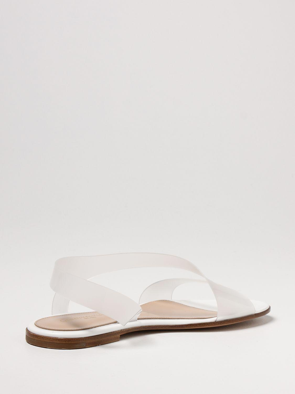 Flache Sandalen Gianvito Rossi: Flache sandalen damen Sergio Rossi weiß 3