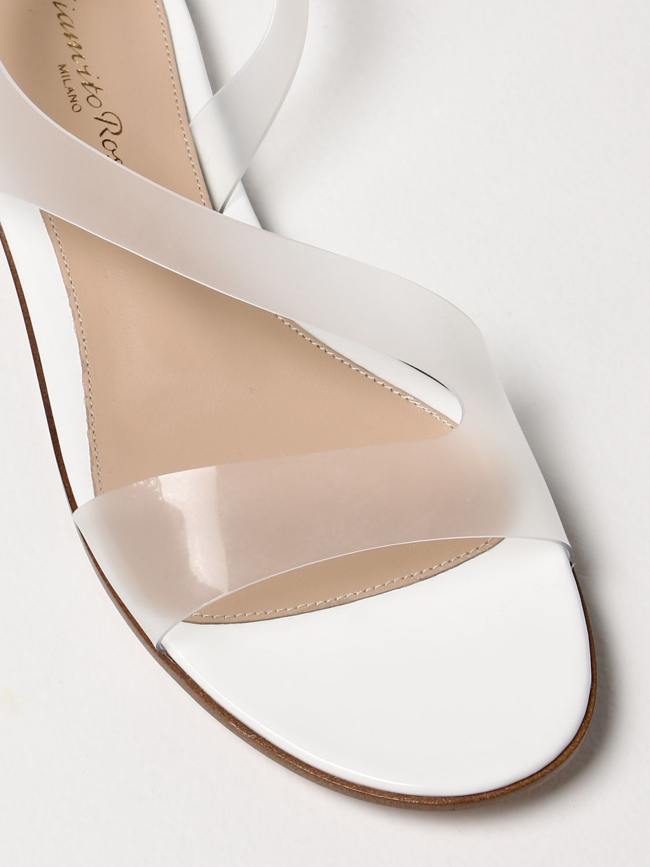 Flache Sandalen Gianvito Rossi: Flache sandalen damen Sergio Rossi weiß 4