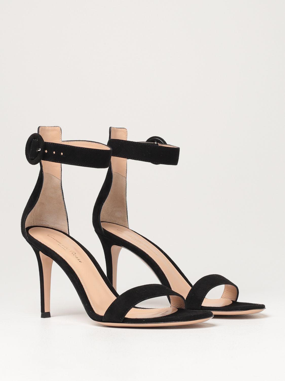 Sandalen mit Absatz Gianvito Rossi: Flache sandalen damen Sergio Rossi schwarz 2