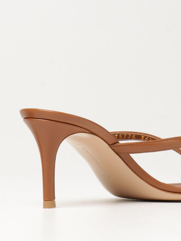 Sandalen mit Absatz Gianvito Rossi: Flache sandalen damen Sergio Rossi leder 3