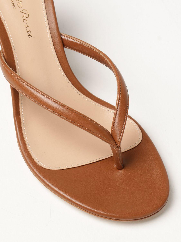 Sandalen mit Absatz Gianvito Rossi: Flache sandalen damen Sergio Rossi leder 4