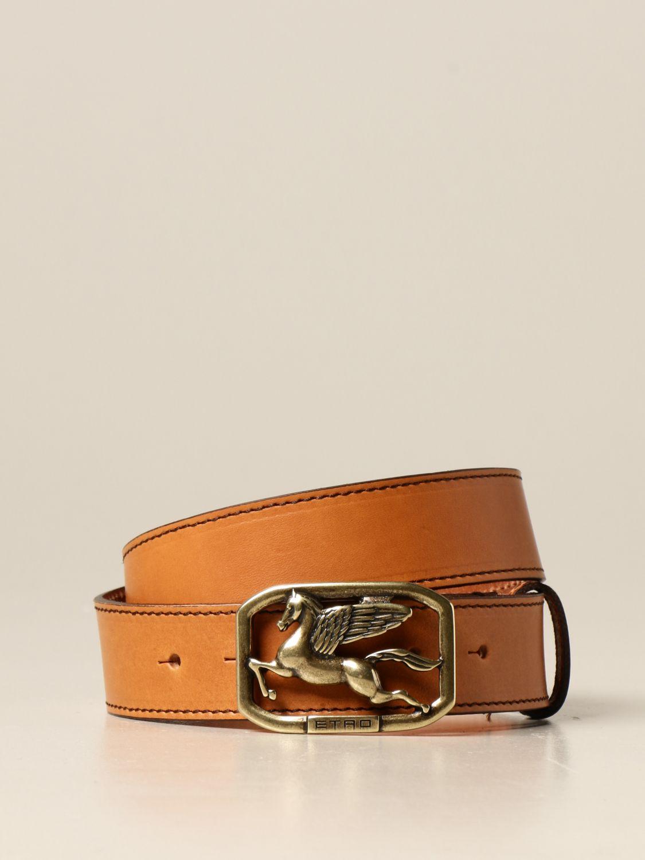 Cintura Etro: Cintura Pegaso Etro in pelle arancione 1