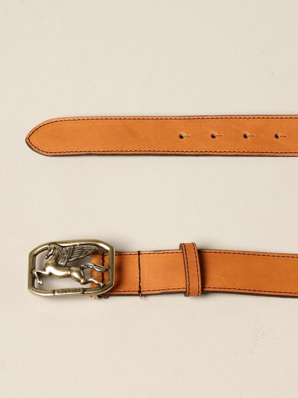 Cintura Etro: Cintura Pegaso Etro in pelle arancione 2