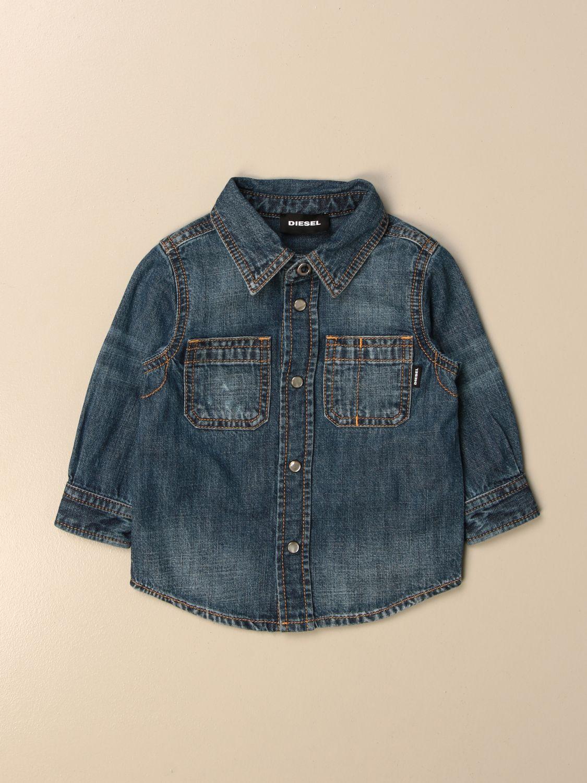 Camisa Diesel: Camisa niños Diesel azul oscuro 1