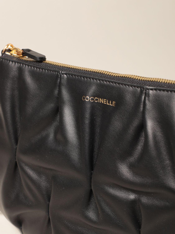 Umhängetasche Coccinelle: Schultertasche damen Coccinelle schwarz 3