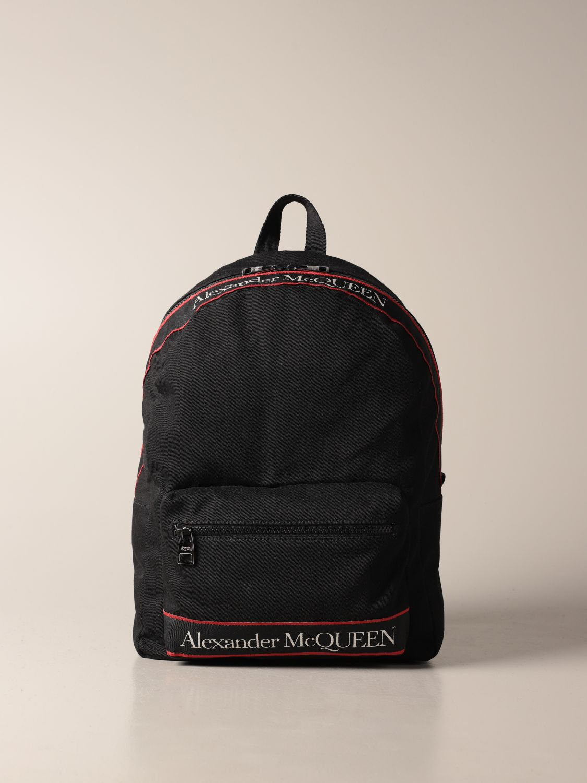 Backpack Alexander Mcqueen: Alexander McQueen backpack in canvas with logo black 1
