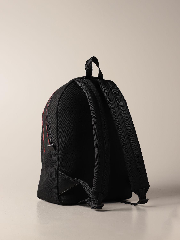 Backpack Alexander Mcqueen: Alexander McQueen backpack in canvas with logo black 3