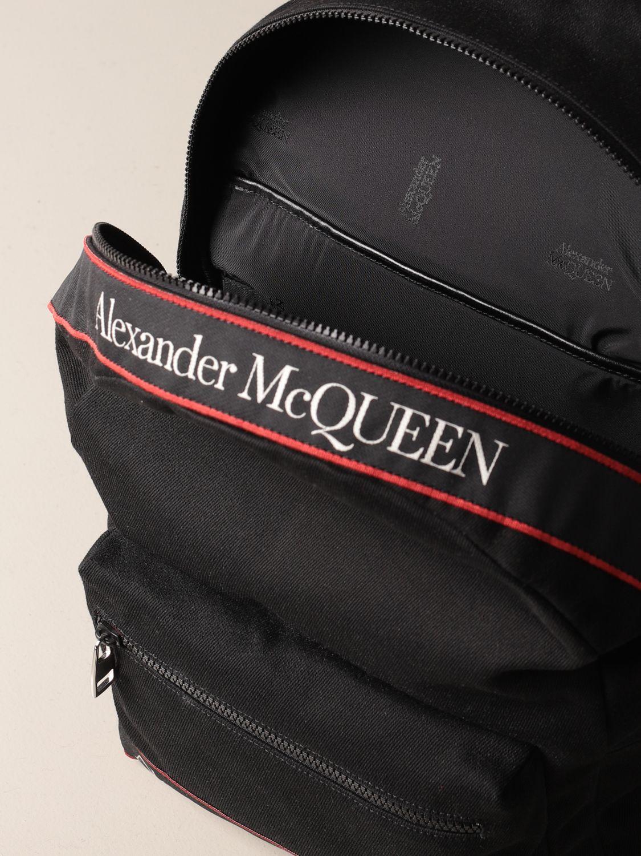 Backpack Alexander Mcqueen: Alexander McQueen backpack in canvas with logo black 5