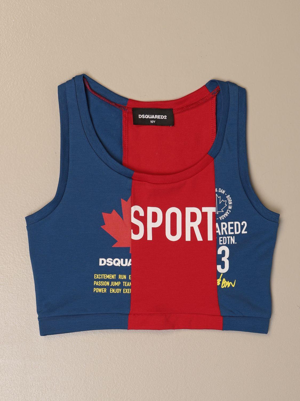 上衣 Dsquared2 Junior: T恤 儿童 Dsquared2 Junior 蓝色 1