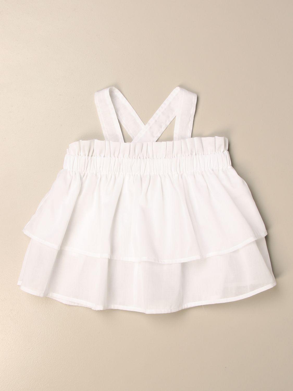 Jupe Il Gufo: Chemise enfant Il Gufo blanc 1