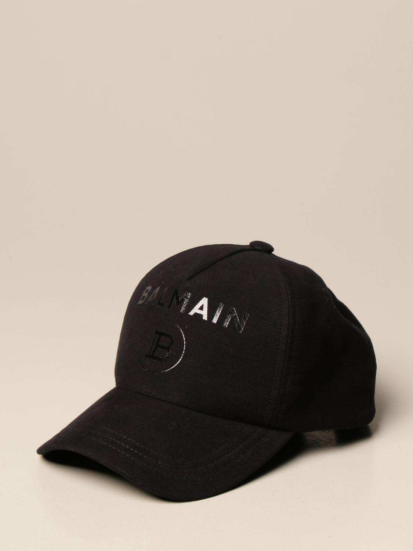 Cappello Balmain: Cappello da baseball Balmain con logo nero 1 1