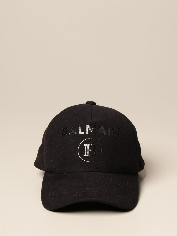 Cappello Balmain: Cappello da baseball Balmain con logo nero 1 2