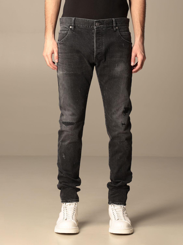 Jeans Balmain: Balmain 5-pocket jeans in denim black 1