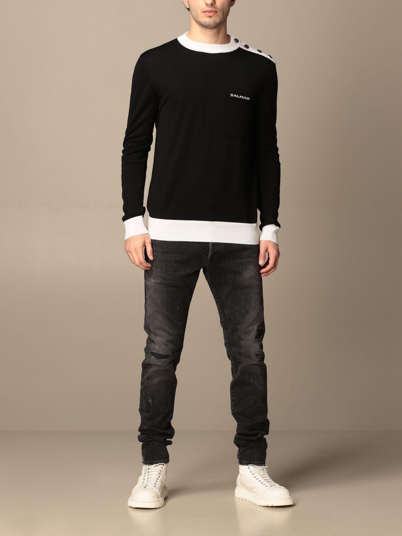 Jeans Balmain: Balmain 5-pocket jeans in denim black 2