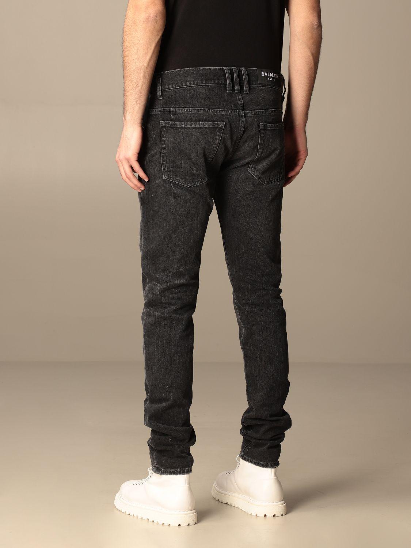 Jeans Balmain: Balmain 5-pocket jeans in denim black 3