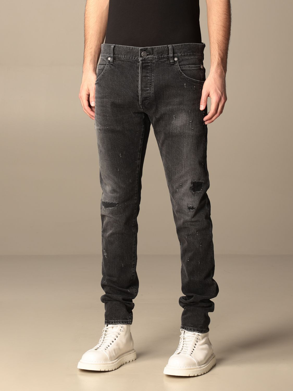 Jeans Balmain: Balmain 5-pocket jeans in denim black 4