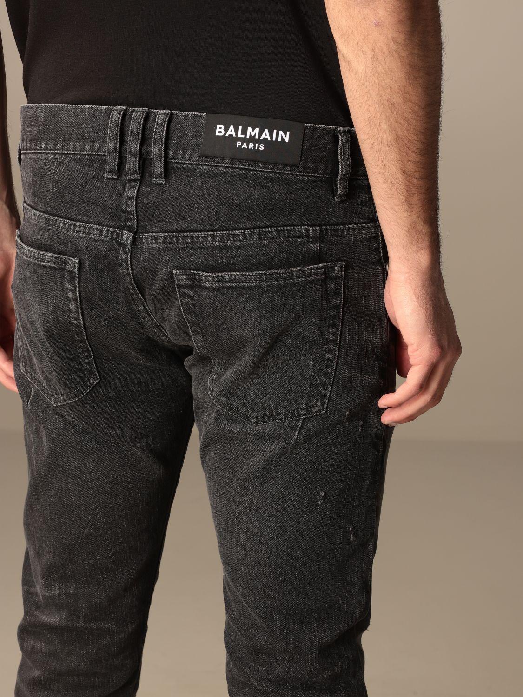 Jeans Balmain: Balmain 5-pocket jeans in denim black 5