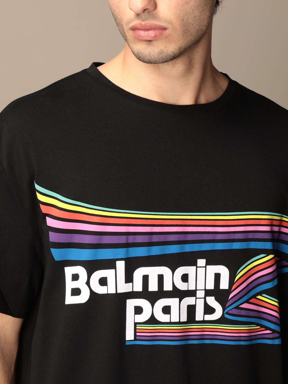 T-shirt Balmain: Balmain cotton t-shirt with logo multicolor 5