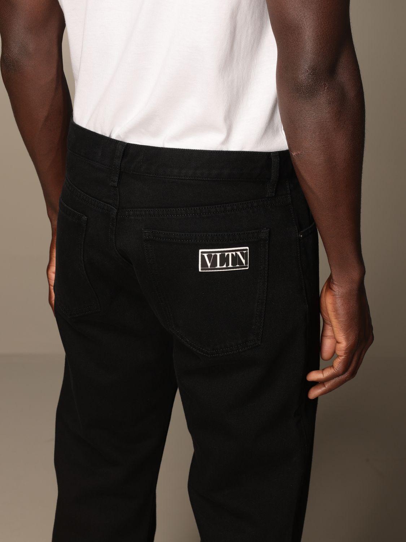 Jeans Valentino: Valentino 5-pocket jeans with VLTN logo black 4