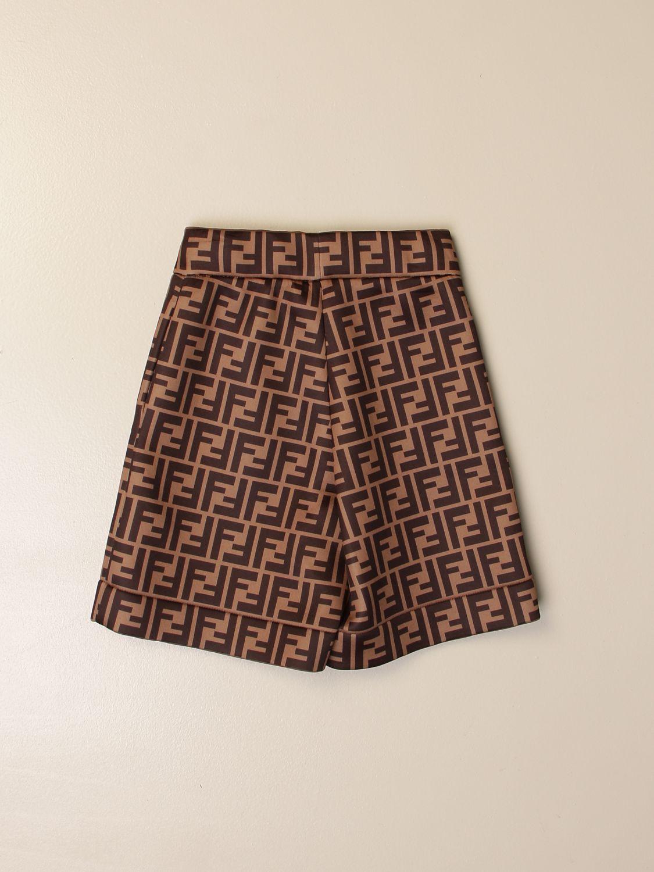 Pants Fendi: Fendi jogging Bermuda shorts with all-over FF logo brown 2