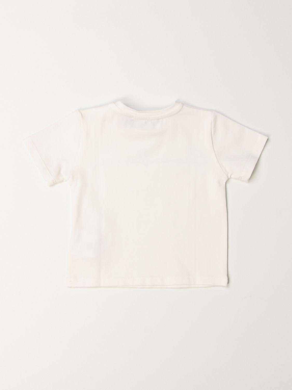 T-shirt Young Versace: T-shirt Versace Young con firma celeste 2