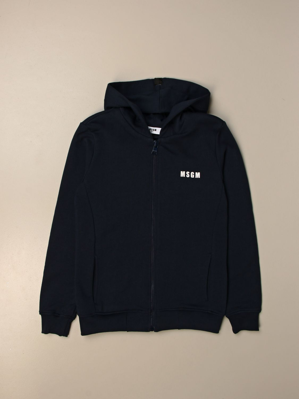 Sweater Msgm Kids: Msgm Kids hoodie with logo blue 1