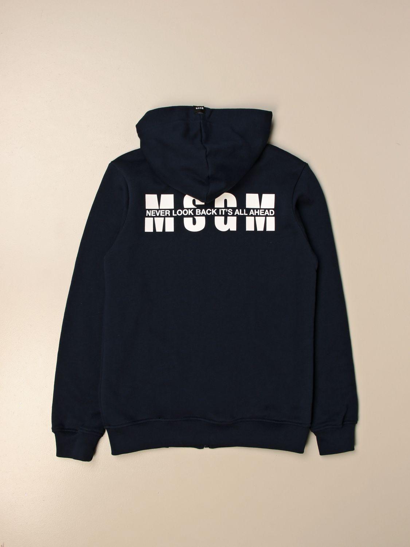 Sweater Msgm Kids: Msgm Kids hoodie with logo blue 2