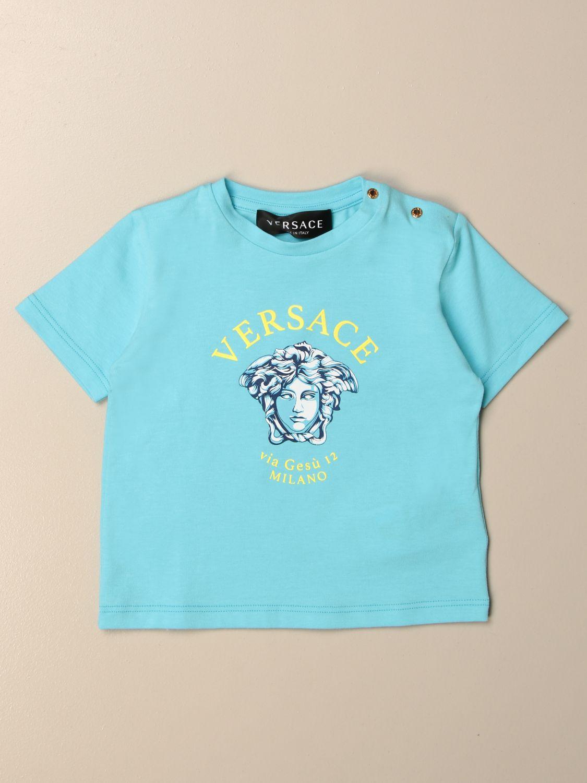 T-shirt Young Versace: T-shirt Versace Young in cotone con logo fantasia 1