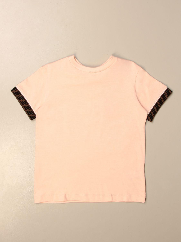 Футболка Fendi: Футболка Детское Fendi розовый 1