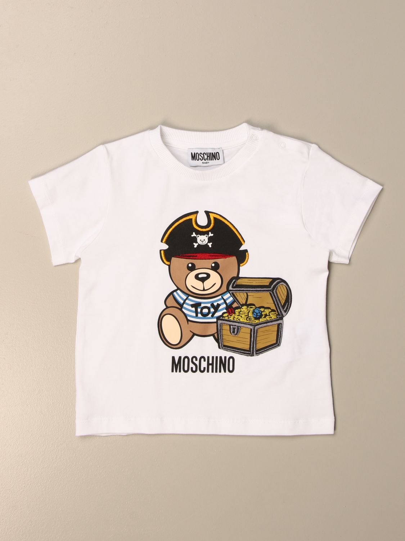 Camiseta Moschino Baby: Camiseta niños Moschino Baby blanco 1