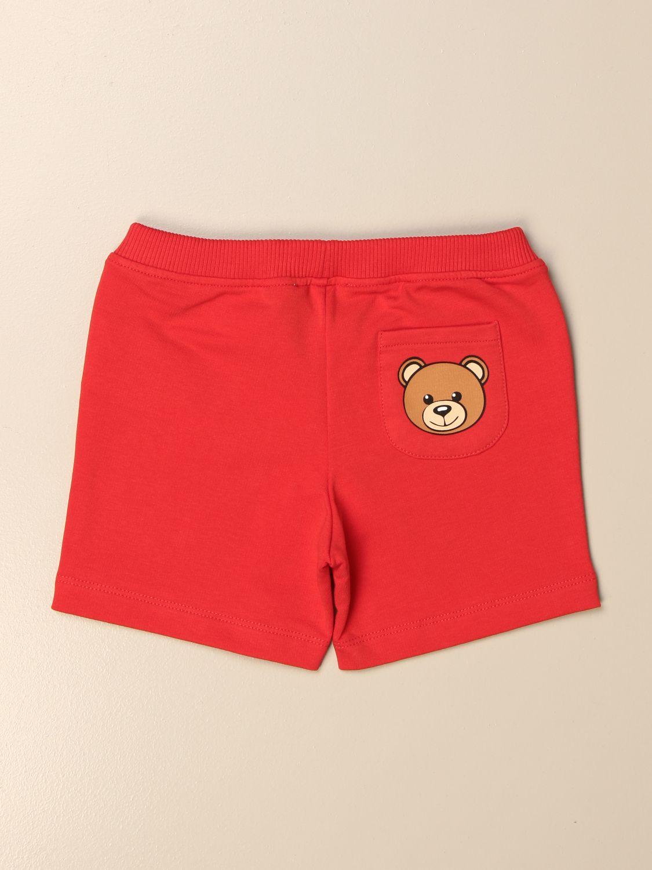 Pantaloncini Moschino Baby: Pantaloncino jogging Moschino Baby con mini teddy rosso 2