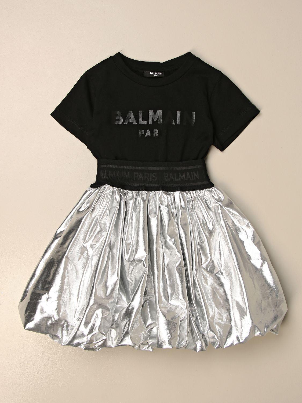 Vestido Balmain: Vestido niños Balmain plata 1