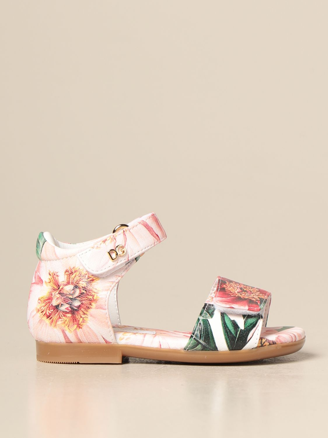 Shoes Dolce & Gabbana: Dolce & Gabbana sandal with floral pattern pink 1