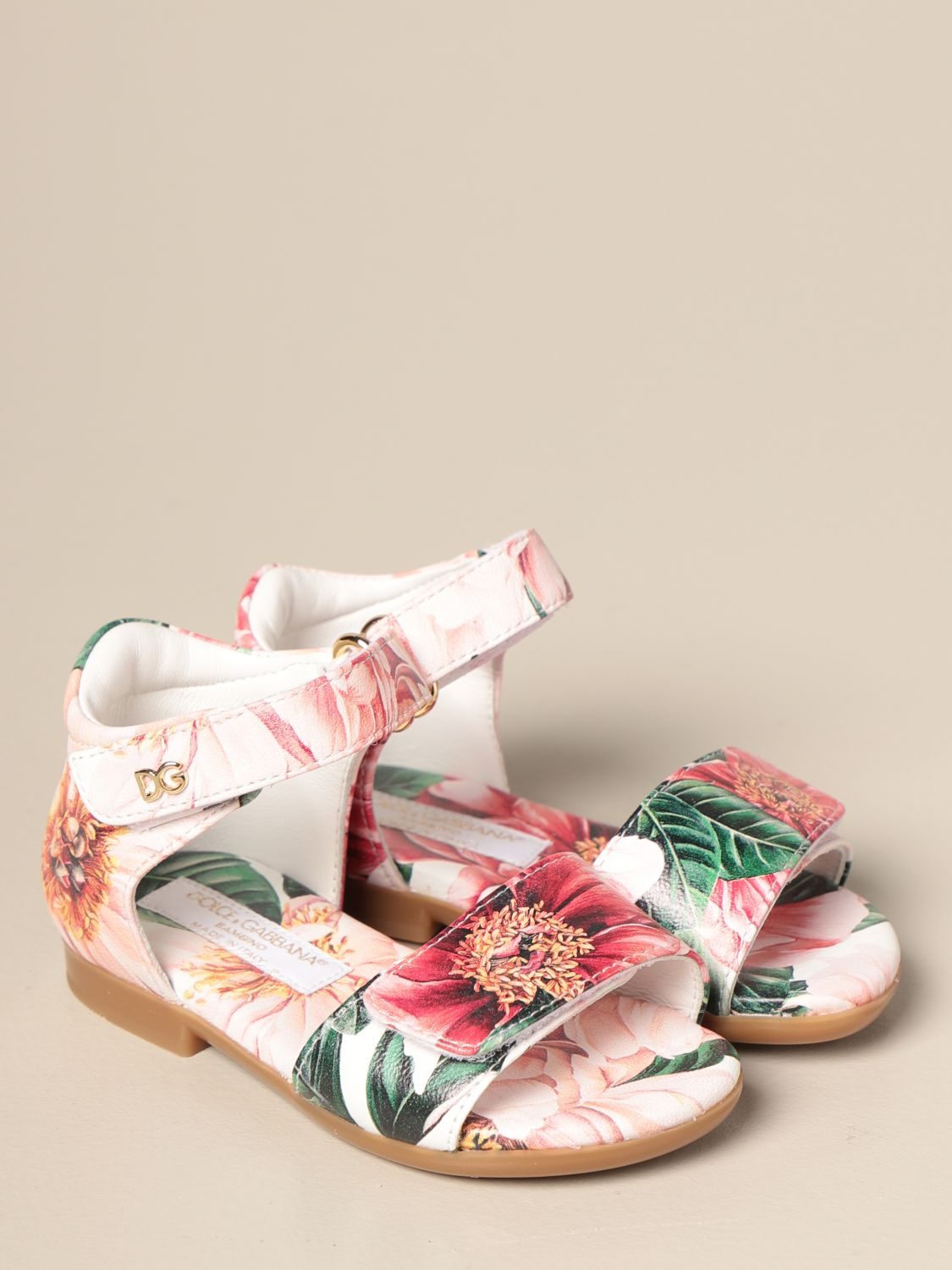 Shoes Dolce & Gabbana: Dolce & Gabbana sandal with floral pattern pink 2