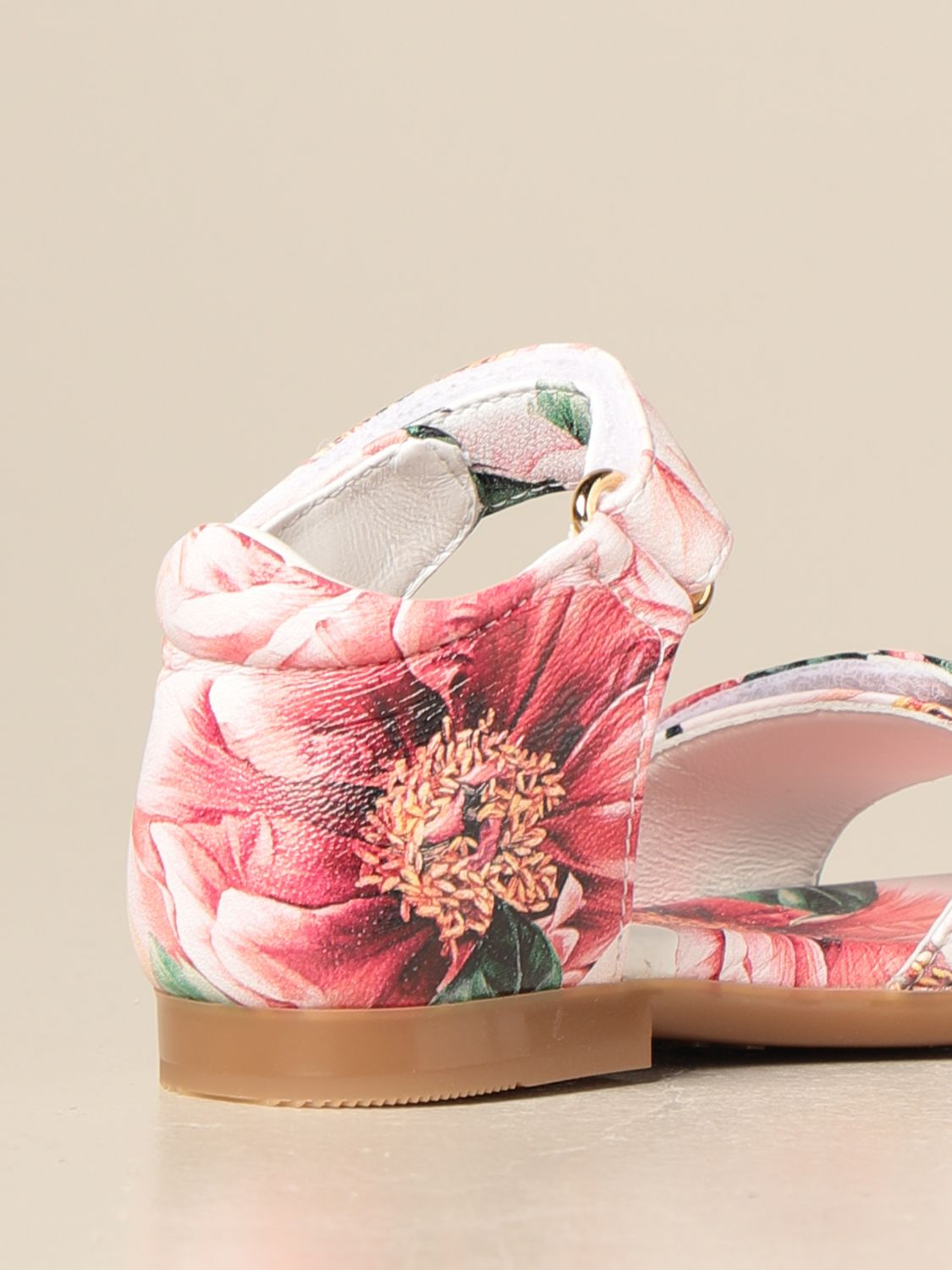 Shoes Dolce & Gabbana: Dolce & Gabbana sandal with floral pattern pink 3
