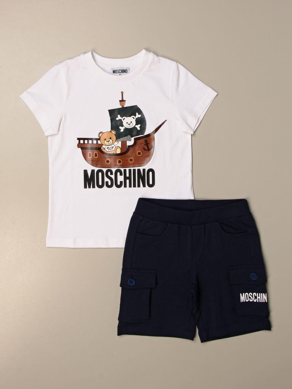 Conjunto Moschino Kid: Conjunto niños Moschino Kid blanco 1