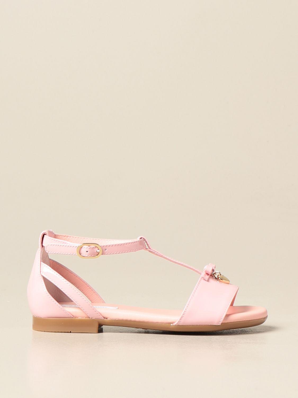 Shoes Dolce & Gabbana: Dolce & Gabbana patent leather sandal pink 1