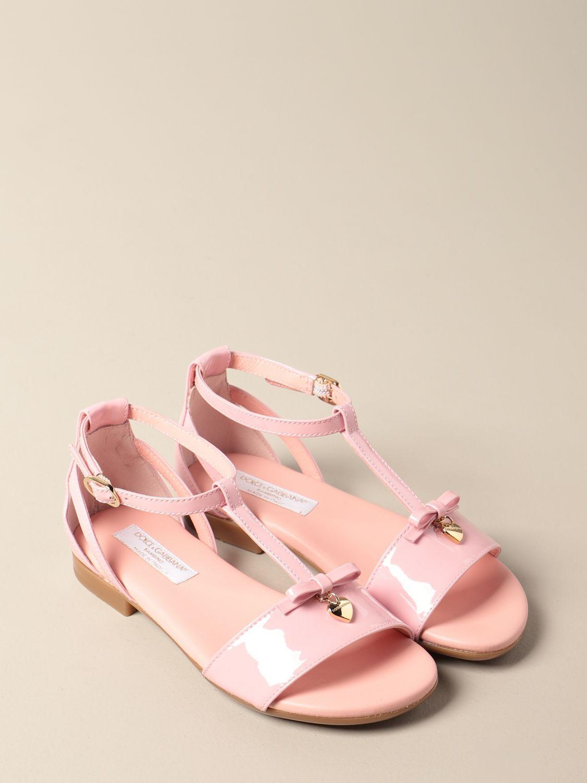 Shoes Dolce & Gabbana: Dolce & Gabbana patent leather sandal pink 2