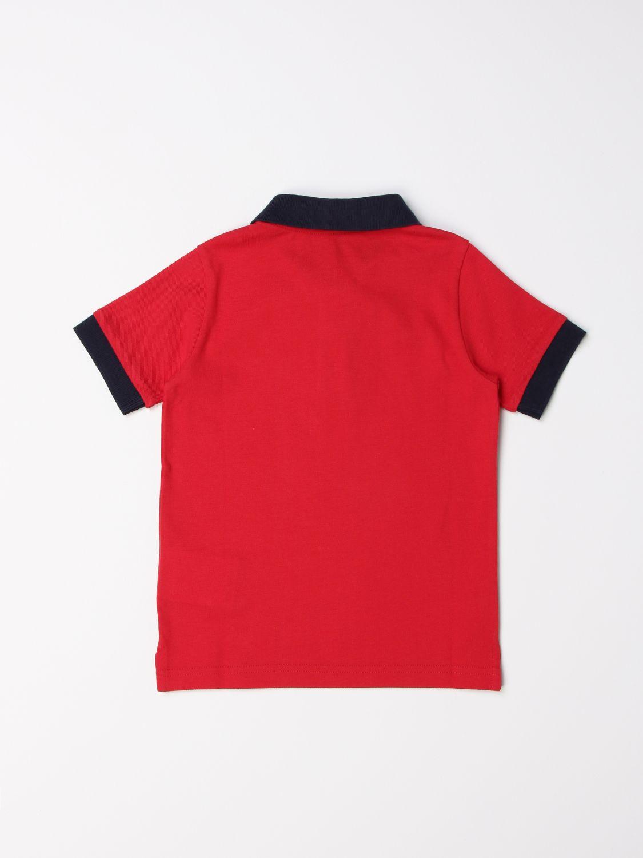 Polo Moncler: Polo Moncler in cotone con logo rosso 2