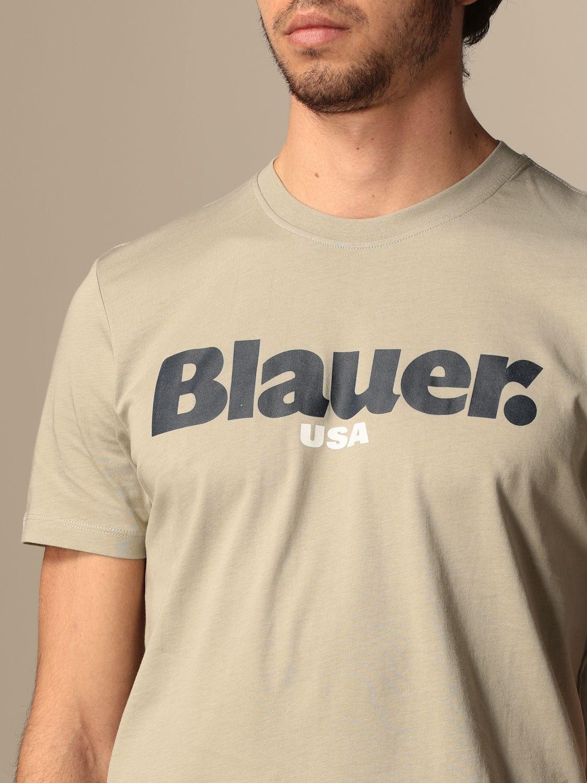 T-shirt Blauer: T-shirt Blauer in cotone con logo grigio 3