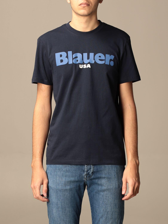 T-shirt Blauer: Blauer cotton t-shirt with logo sapphire 1
