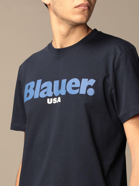T-shirt Blauer: Blauer cotton t-shirt with logo sapphire 3