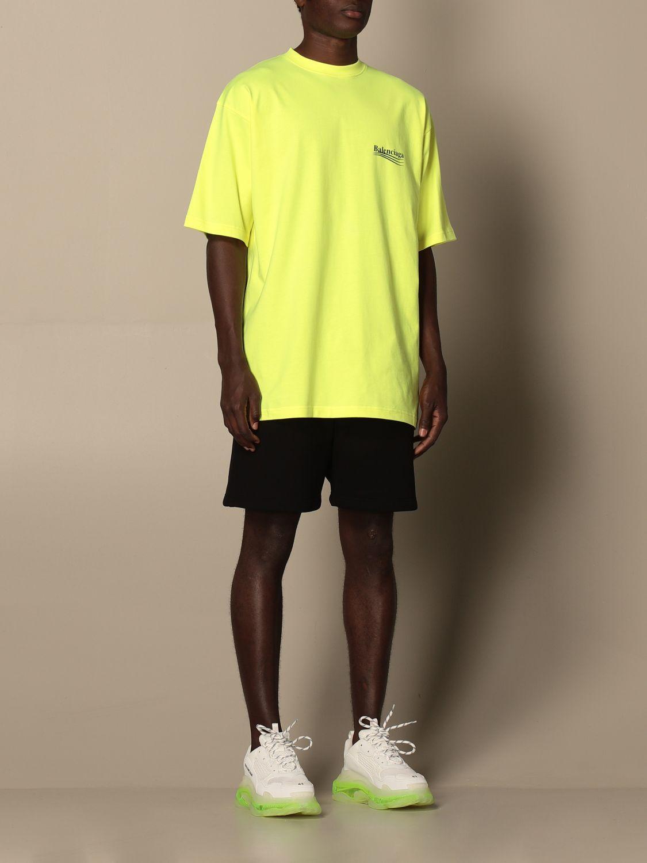 T-shirt Balenciaga: Balenciaga cotton t-shirt with logo yellow 2