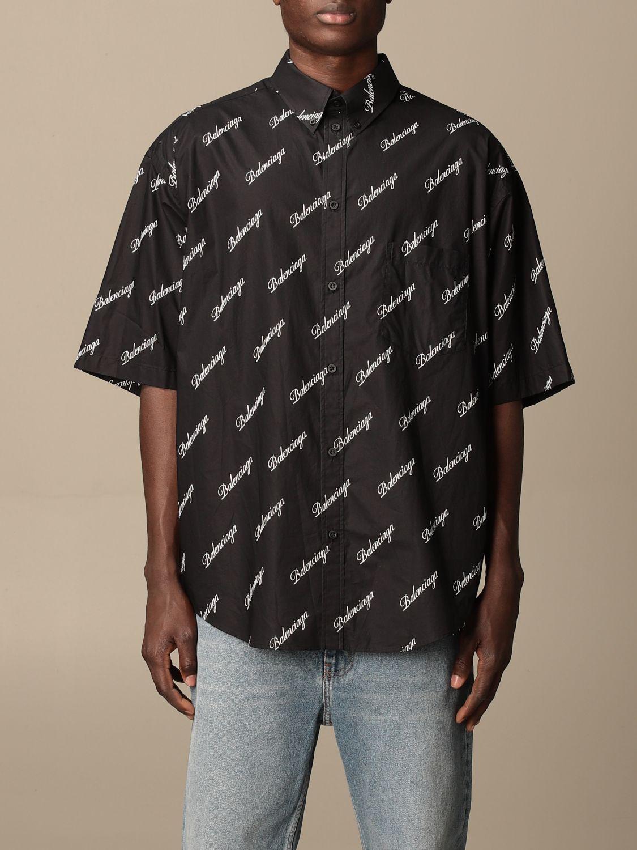Chemise Balenciaga: Chemise homme Balenciaga noir 1