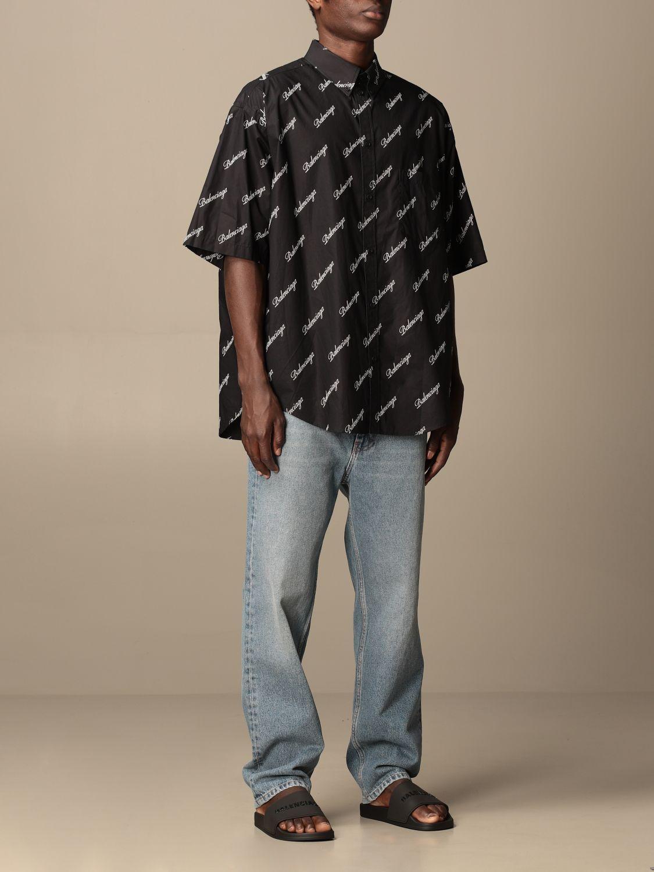 Chemise Balenciaga: Chemise homme Balenciaga noir 2