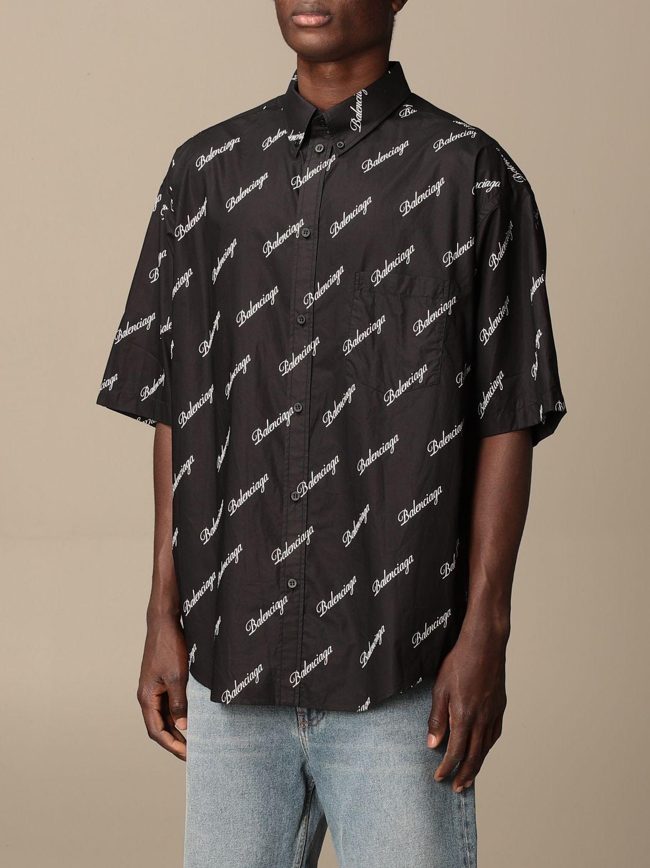 Chemise Balenciaga: Chemise homme Balenciaga noir 4