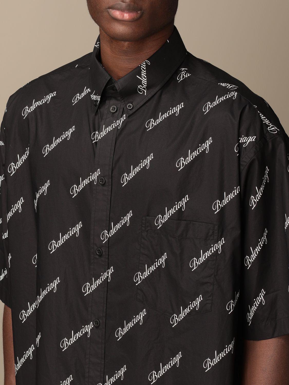 Chemise Balenciaga: Chemise homme Balenciaga noir 5
