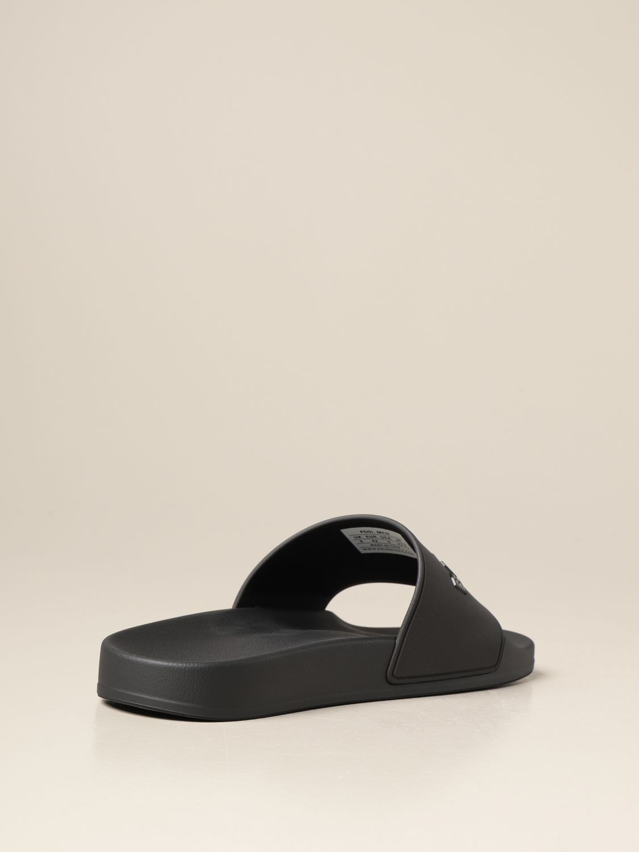Sandals Balenciaga: Slide Balenciaga sandal in rubber with logo black 3